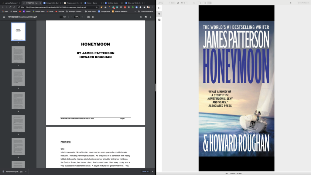 James Patterson Outline Example