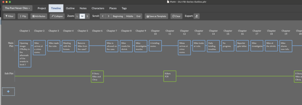 Outline example using Plottr software app.